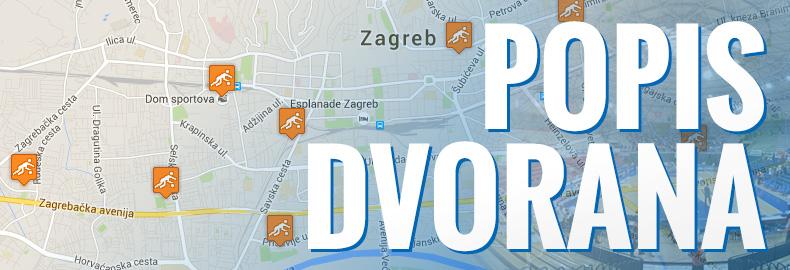 Dvorane u Zagrebu